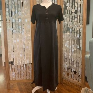 Long Causal Black Dress